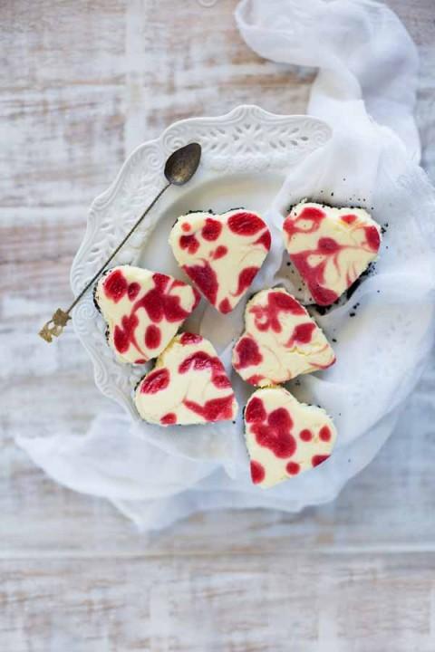 Raspberry White Chocolate Cheesecake Bars