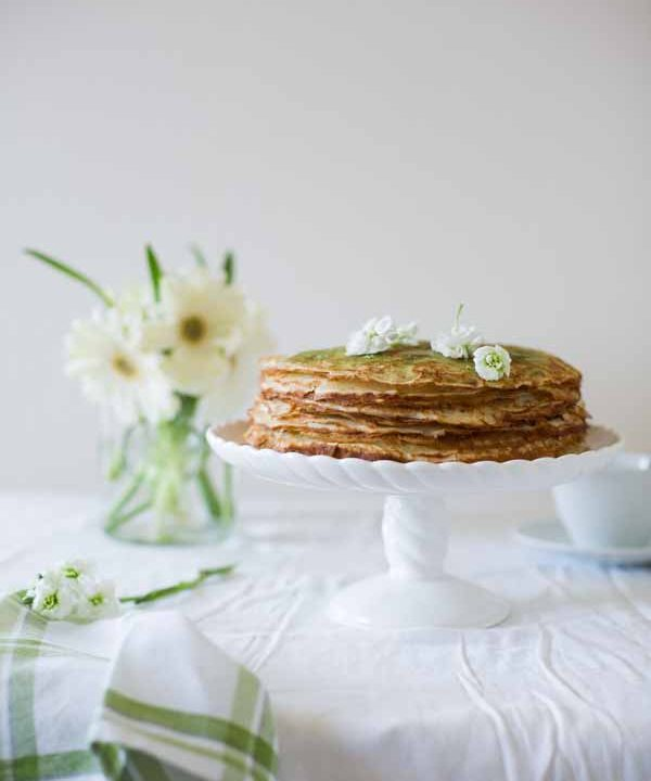 Green Tea Crepe Cake (In Russian)