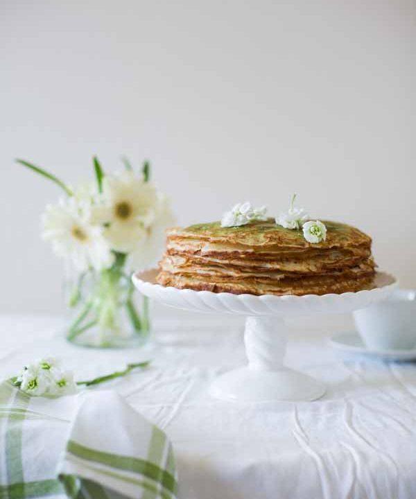 Green Tea Crepe Cake (In Russian)