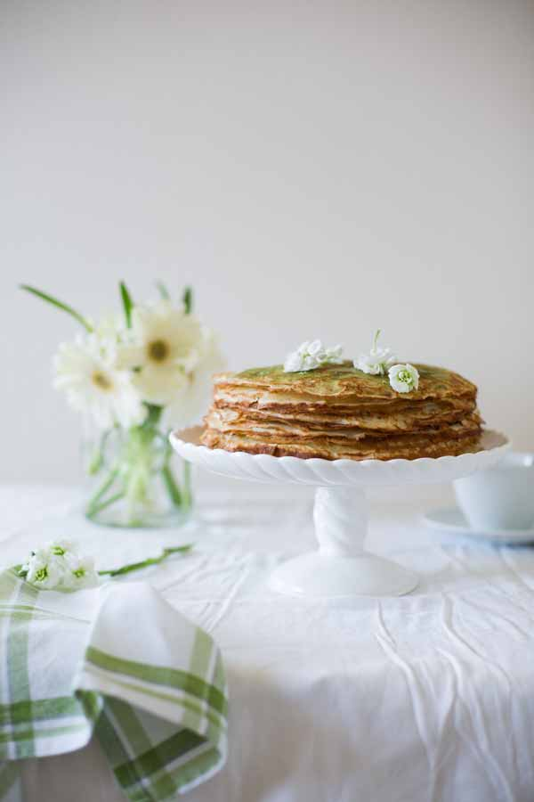 green tea cake - food photography